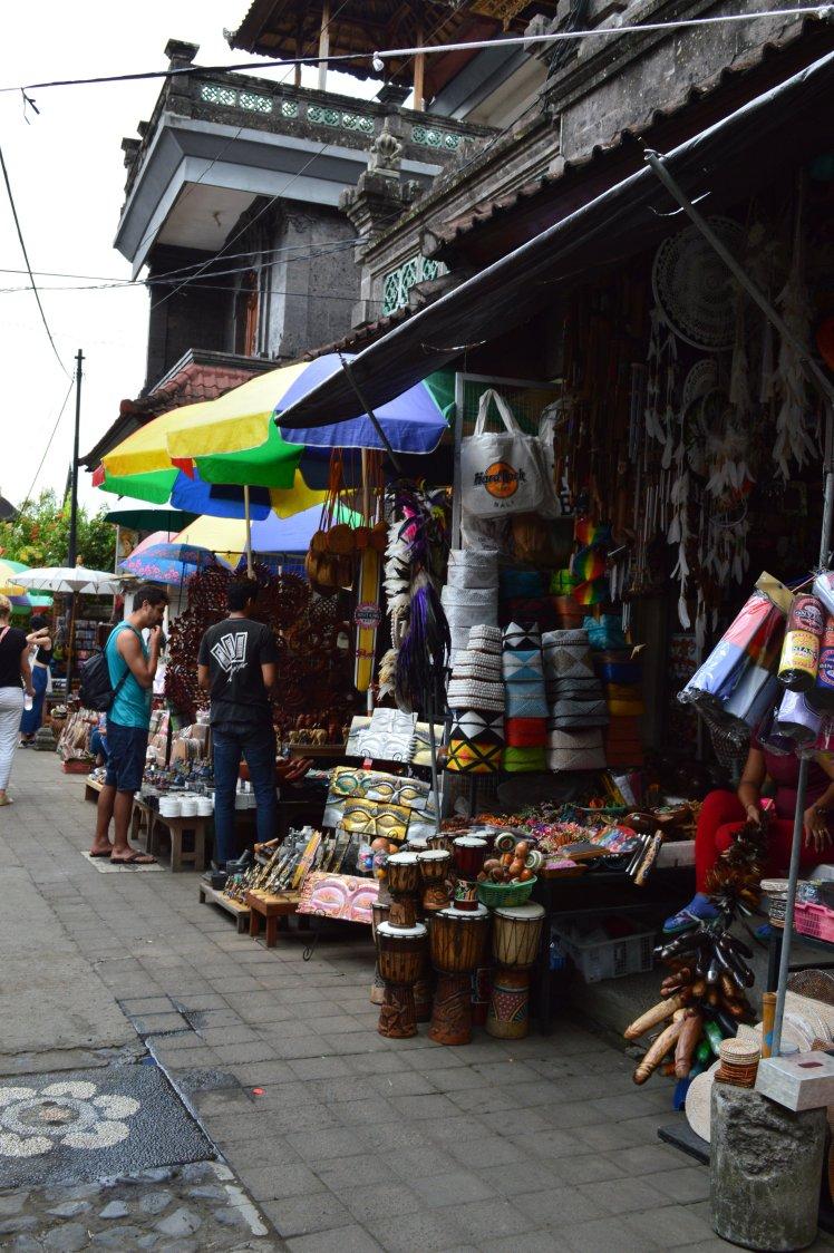Popular shopping street in Ubud