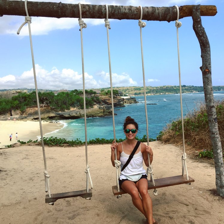 Swing atop the cliff overlooking Dream Beach