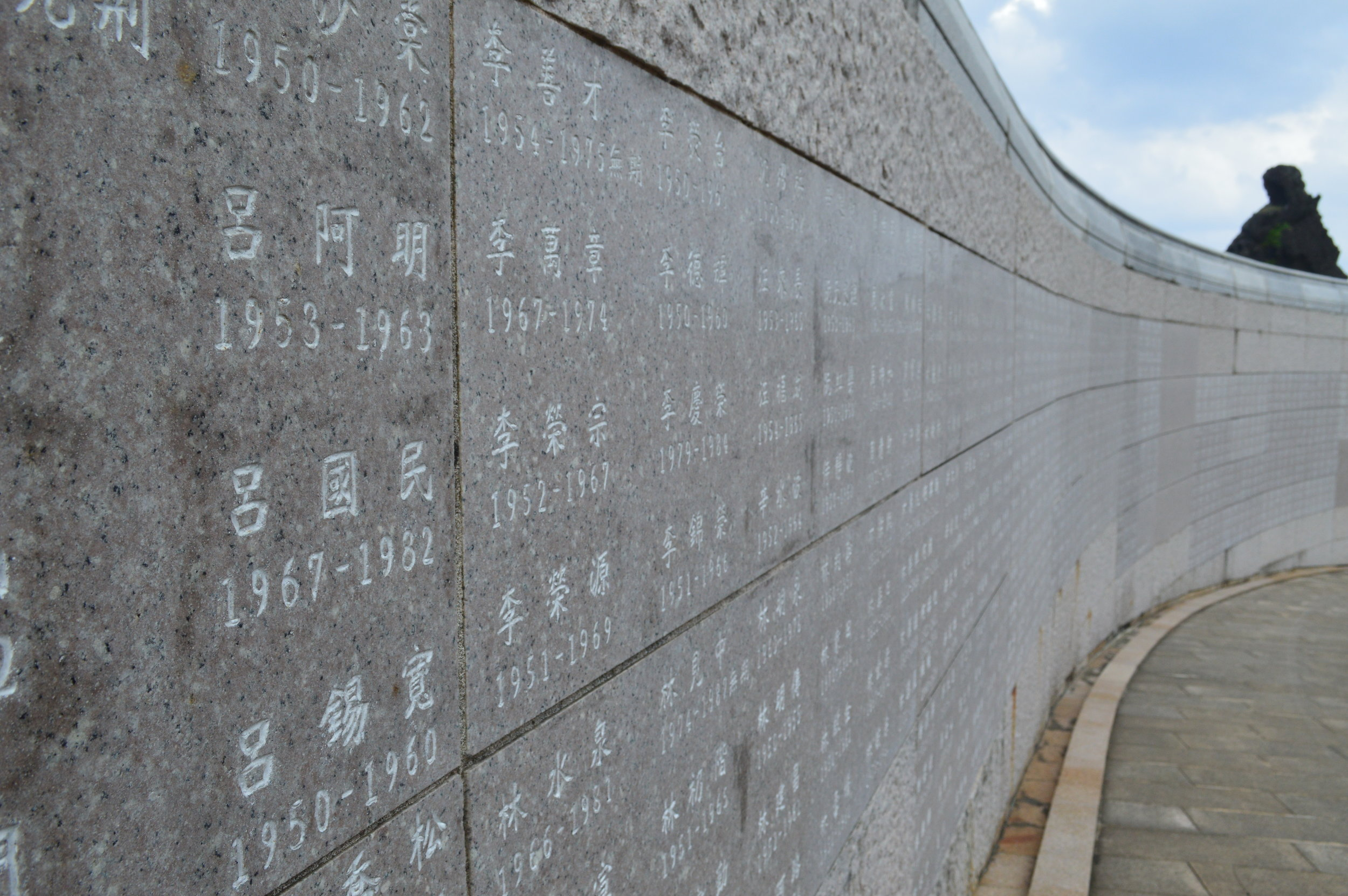 Human Rights Memorial Wall symbolizes the path of human rights taken by every victim
