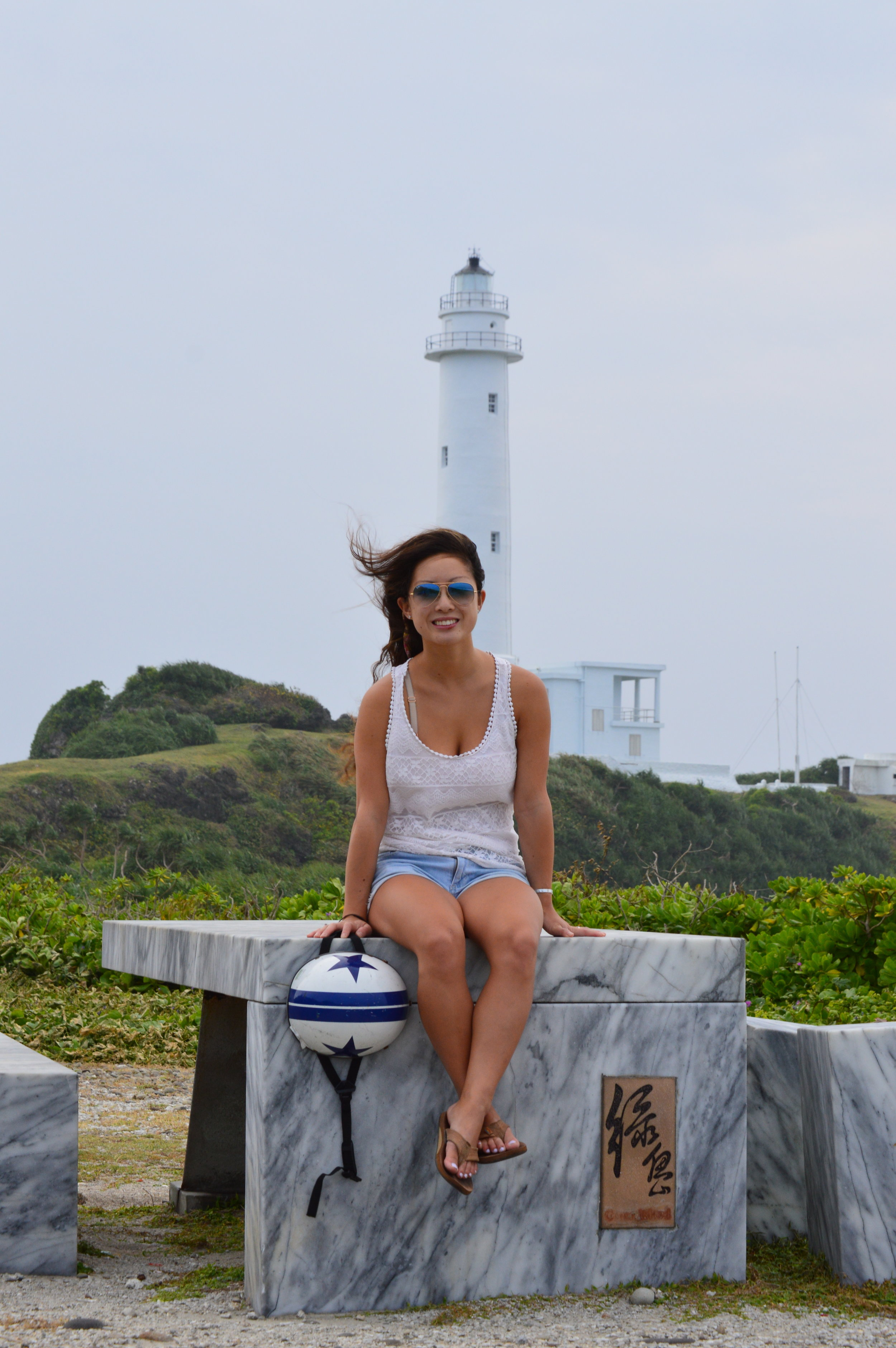 First day on the island (Monday) was cloudy and super windy. Lighthouse was closed.