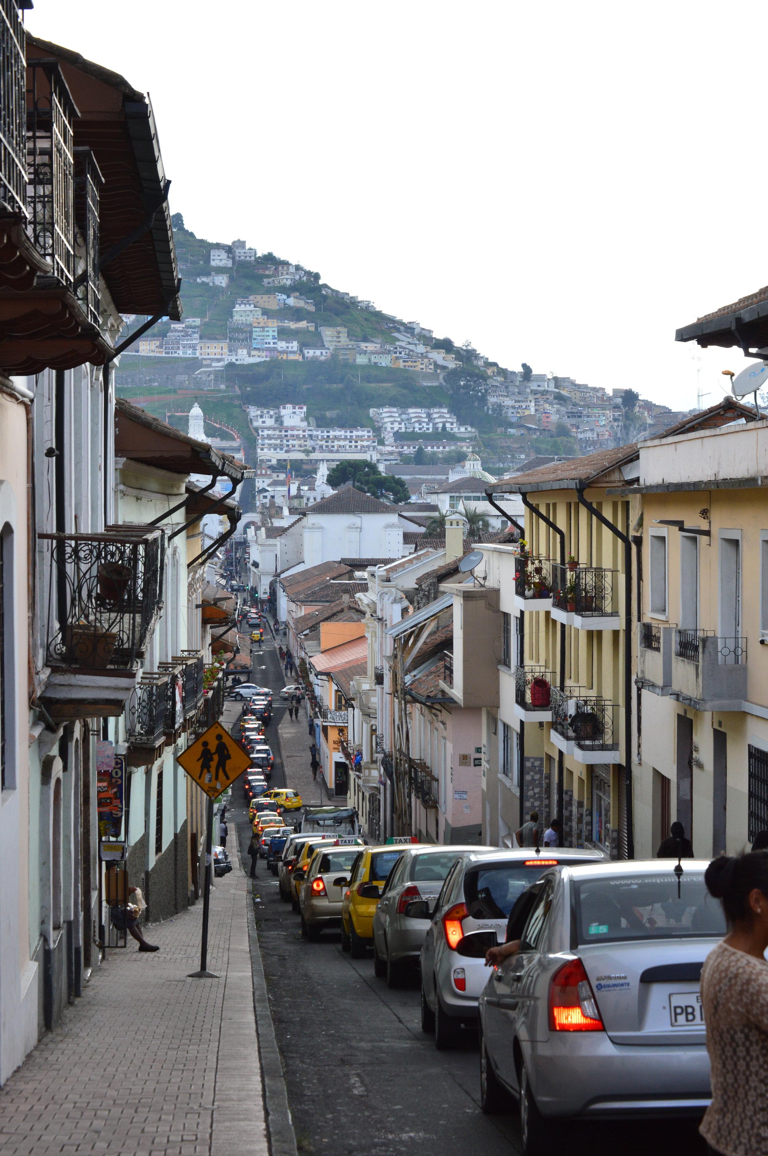 Rush hour in Quito