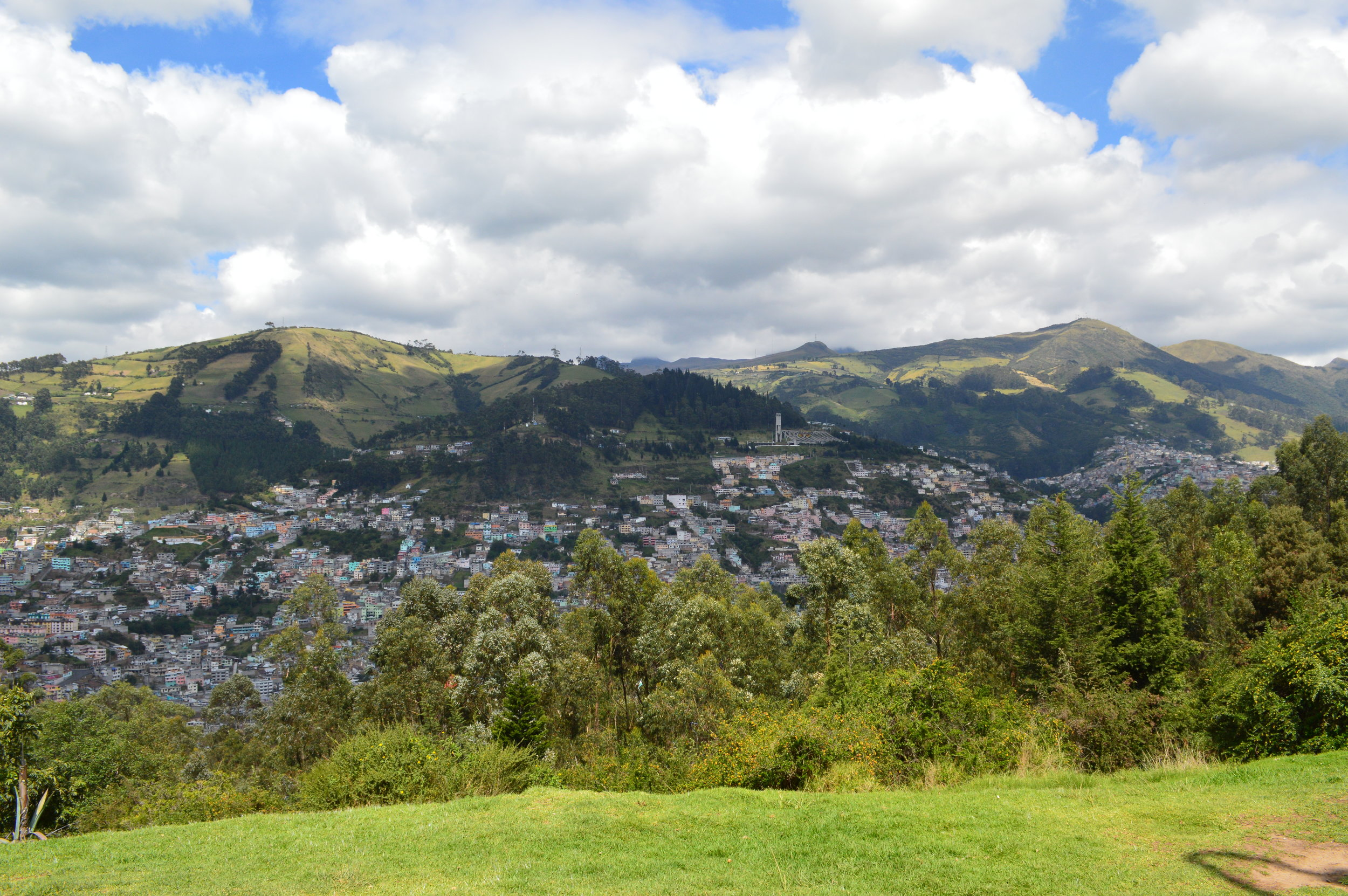 You can view Quito 360 degrees from the top.