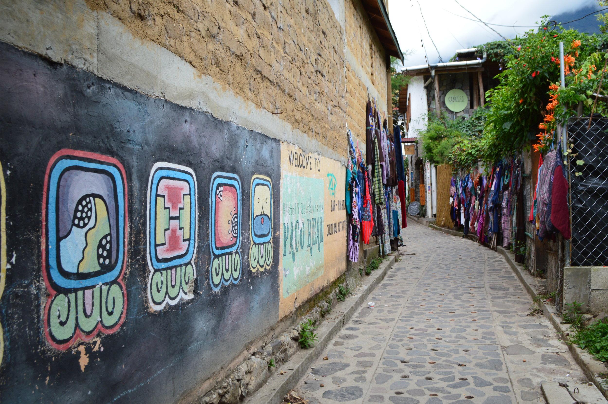 Beautiful murals along the path