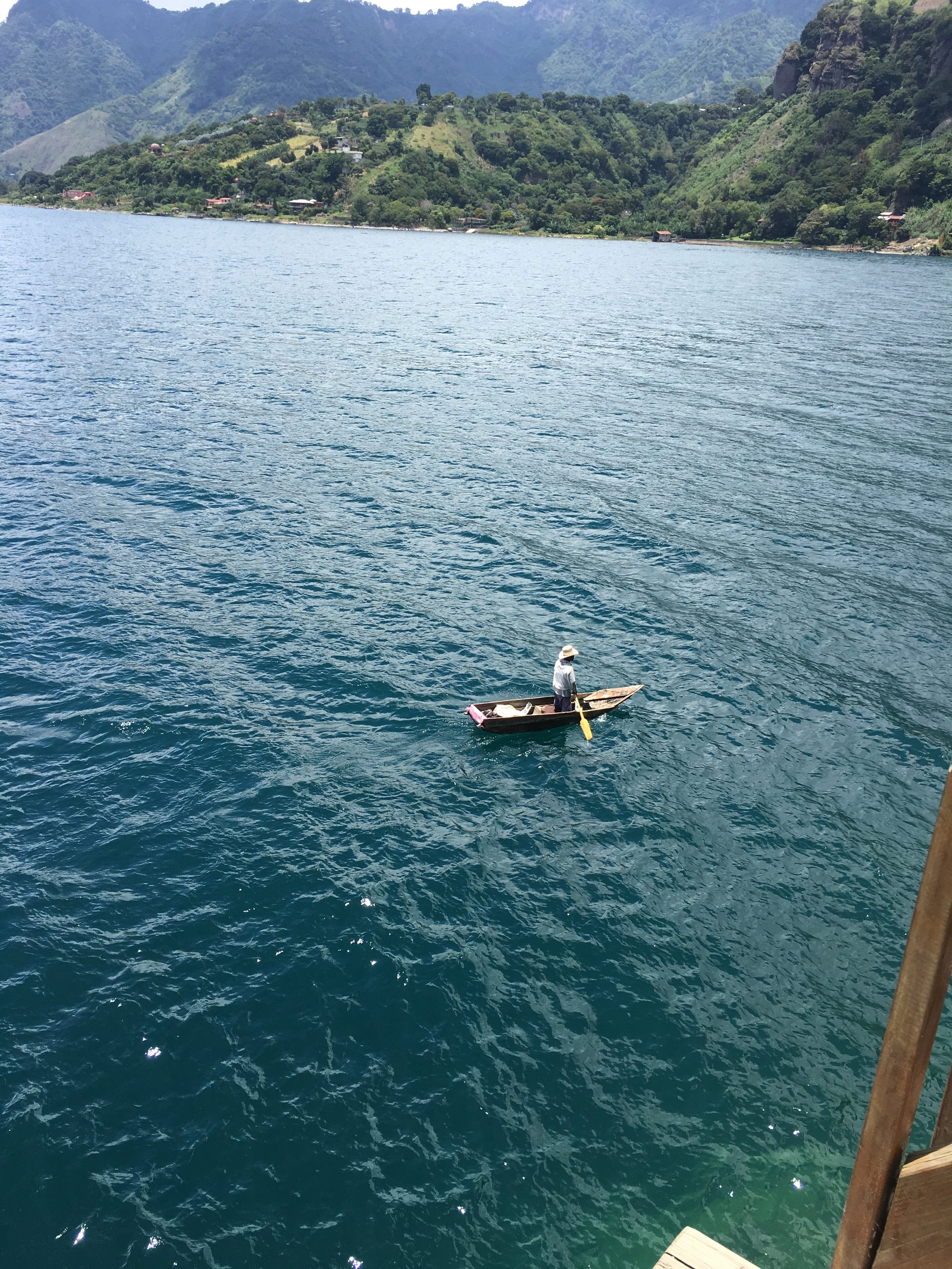 Man rowing his boat