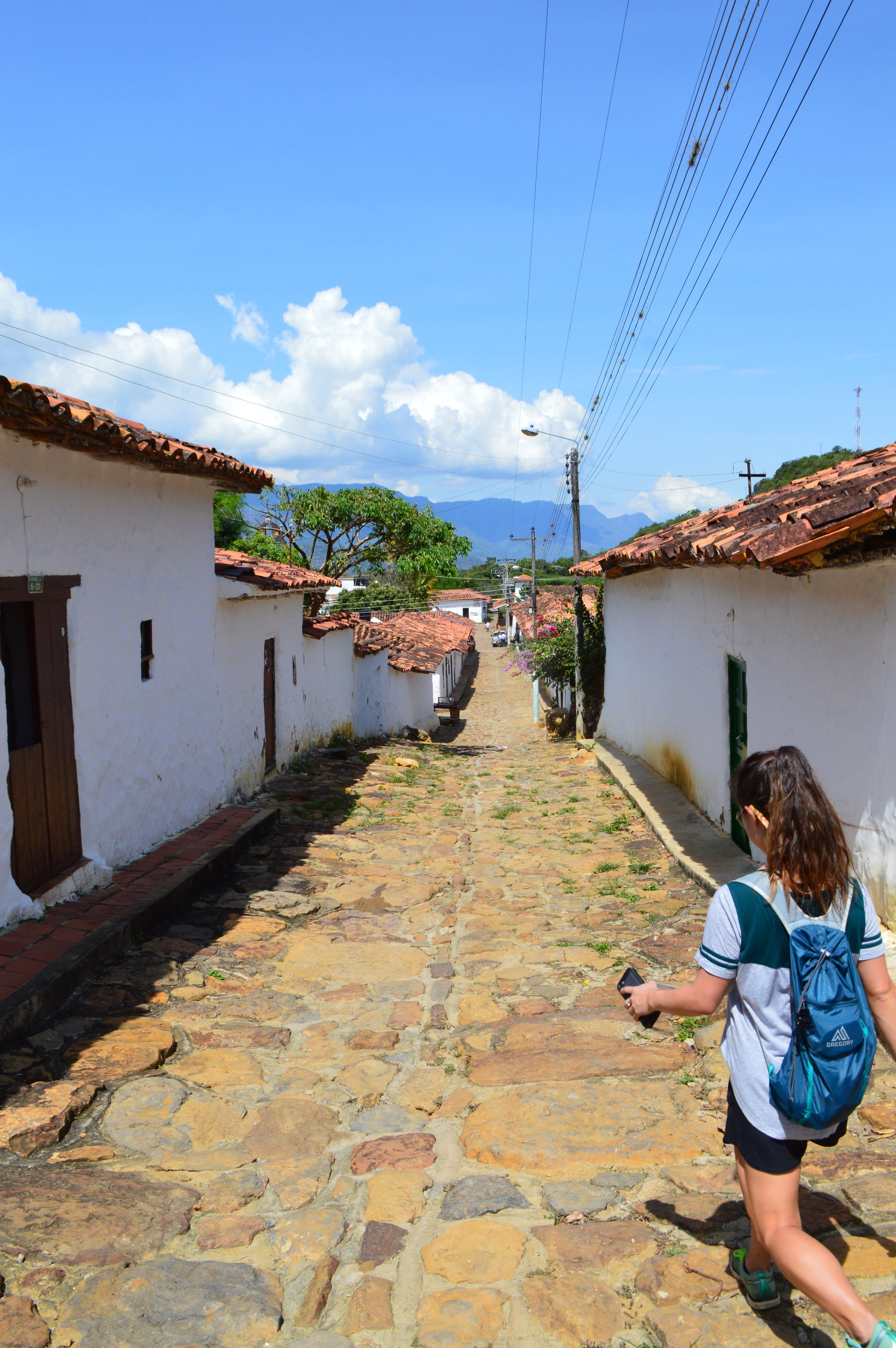 Walking into the town of Guane
