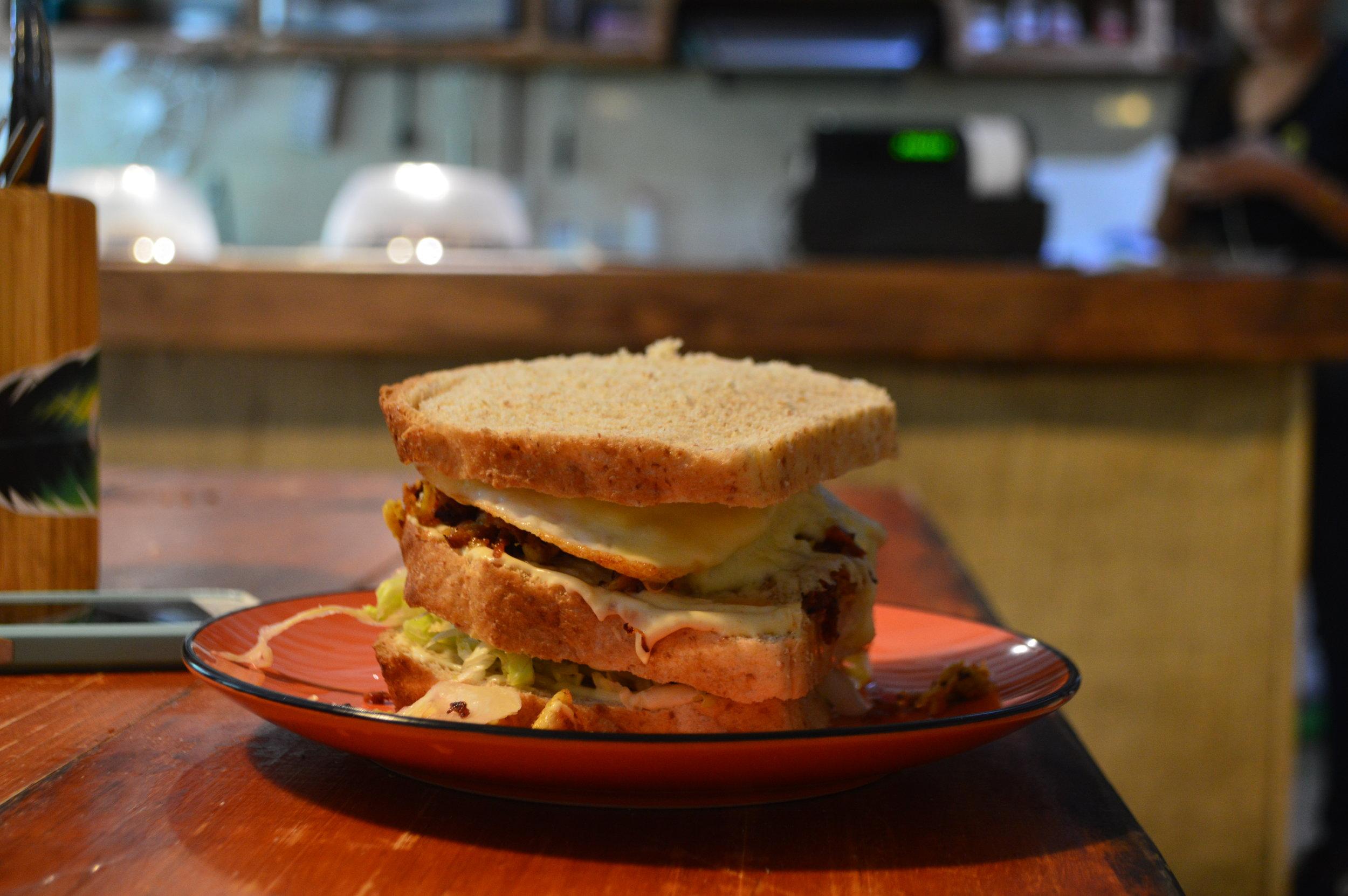 Club sandwich at Finca La Victoria. Great stop for lunch!