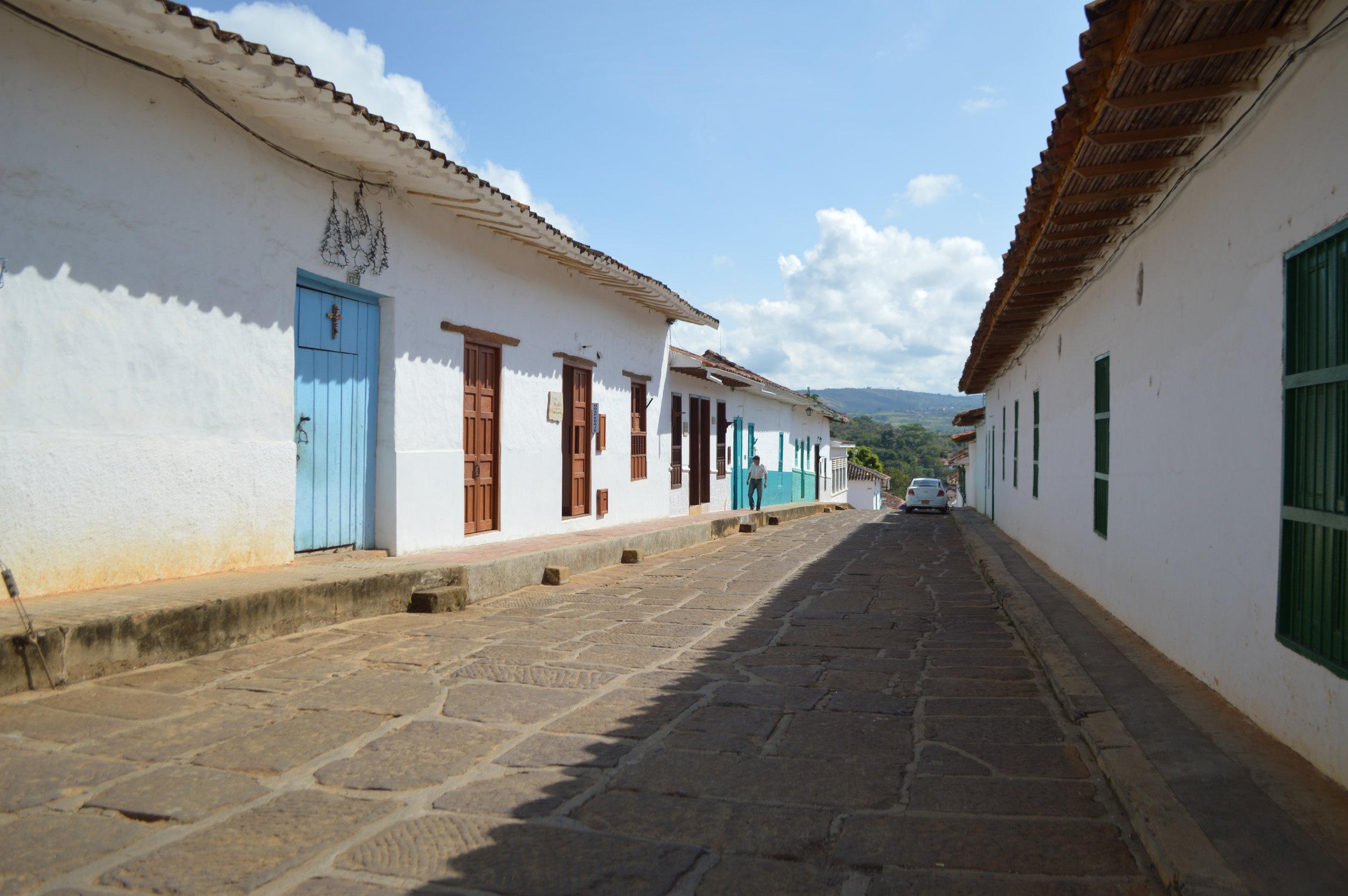 Quiet town of Barichara