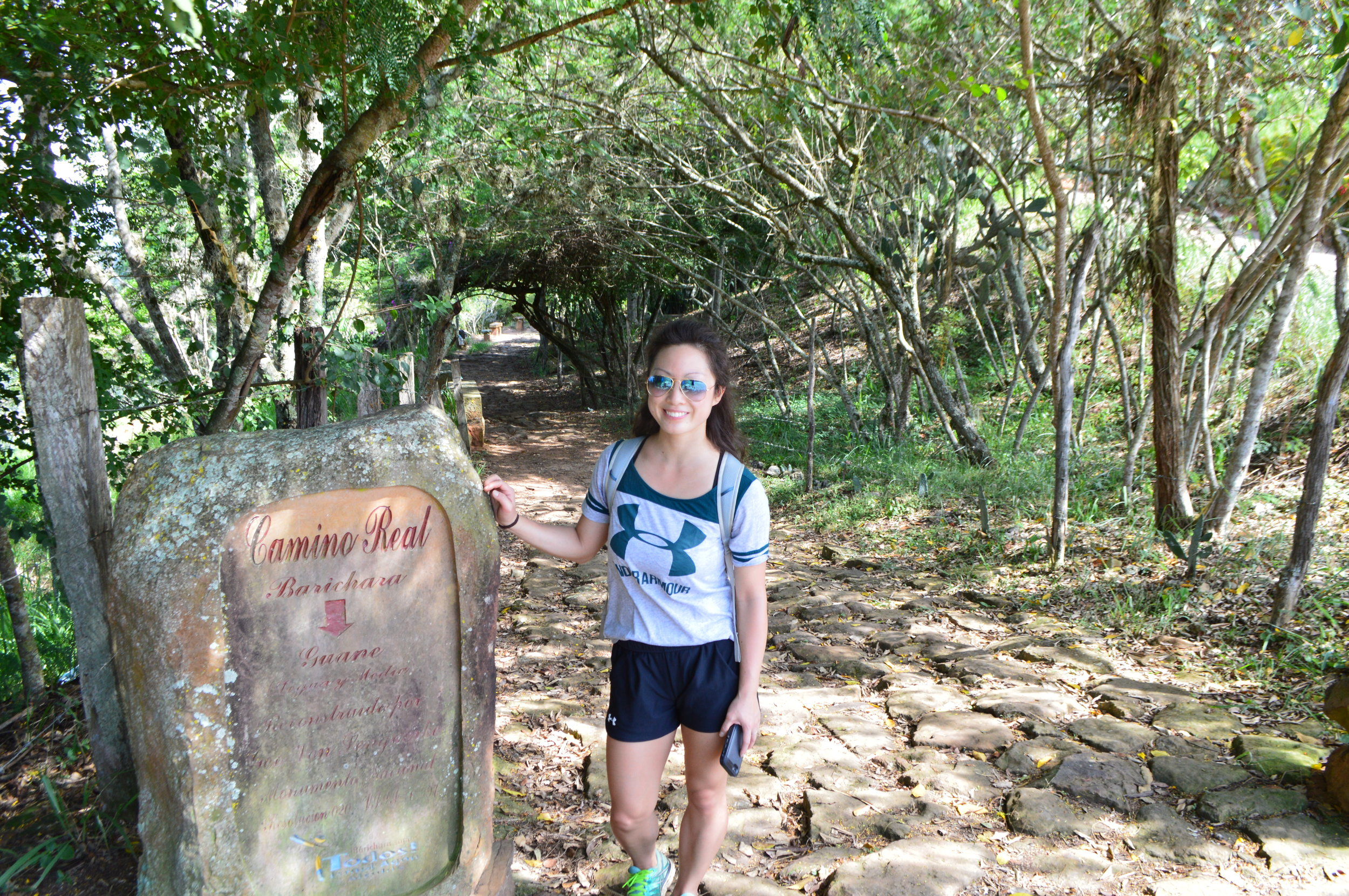 Camino Real trailhead from Barichara to Guane