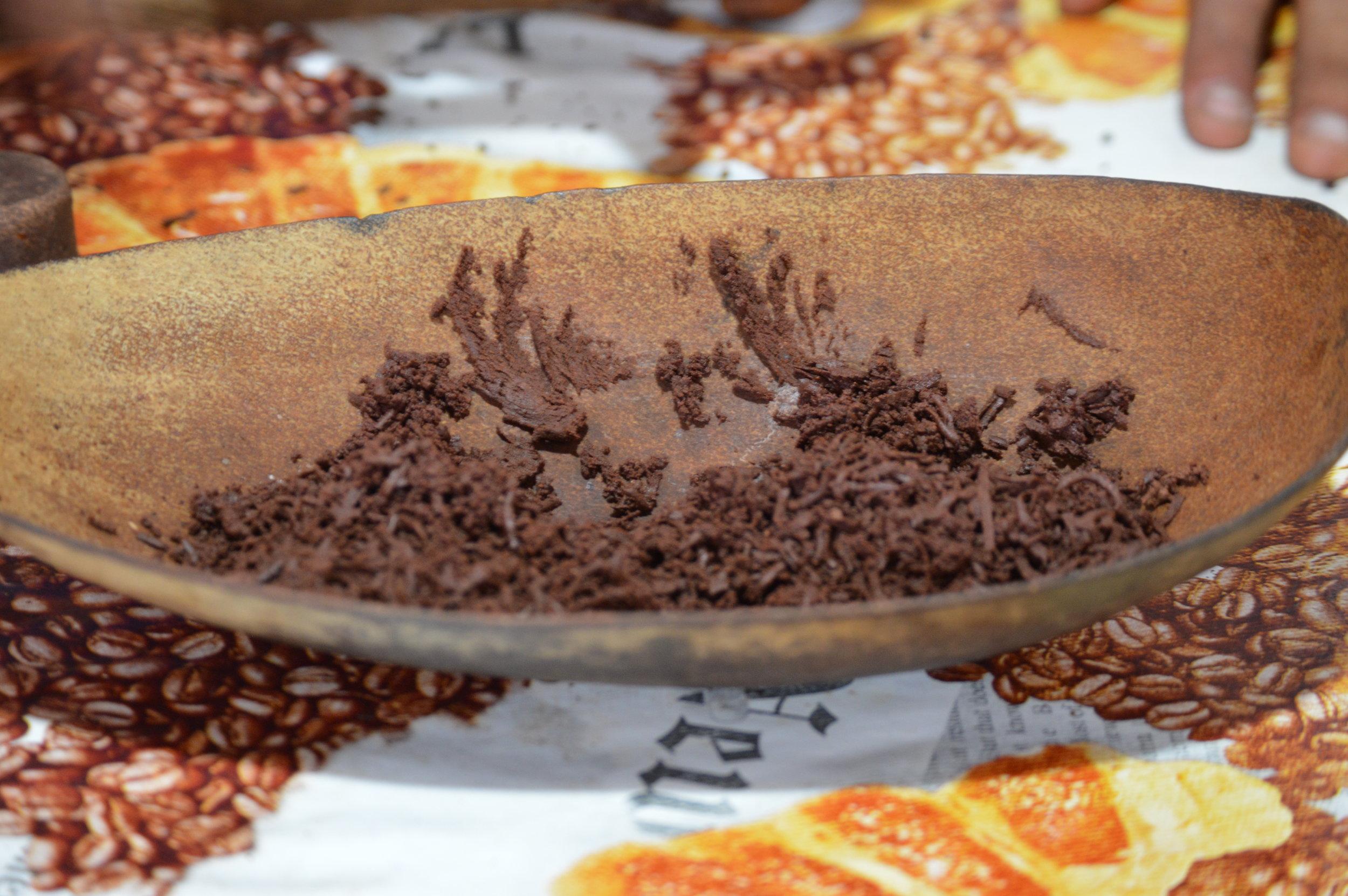 Ground chocolate