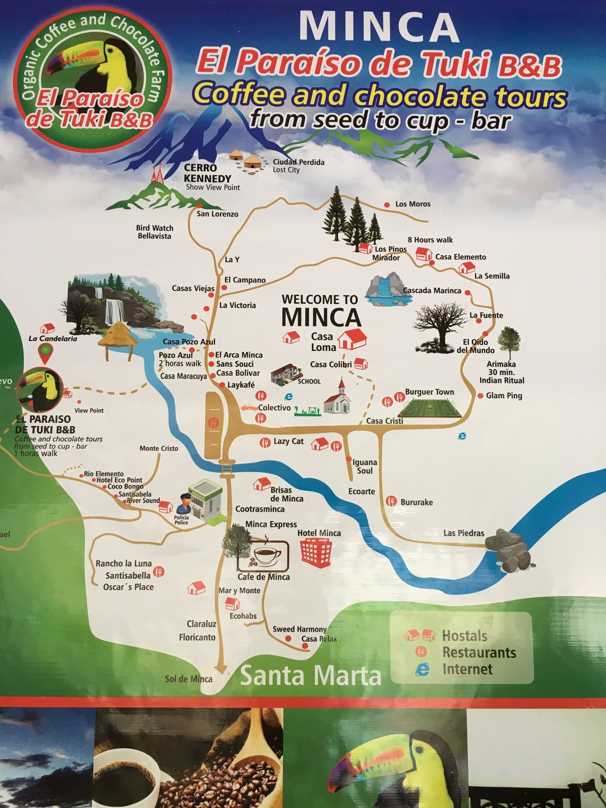 Map of Minca (not to scale)