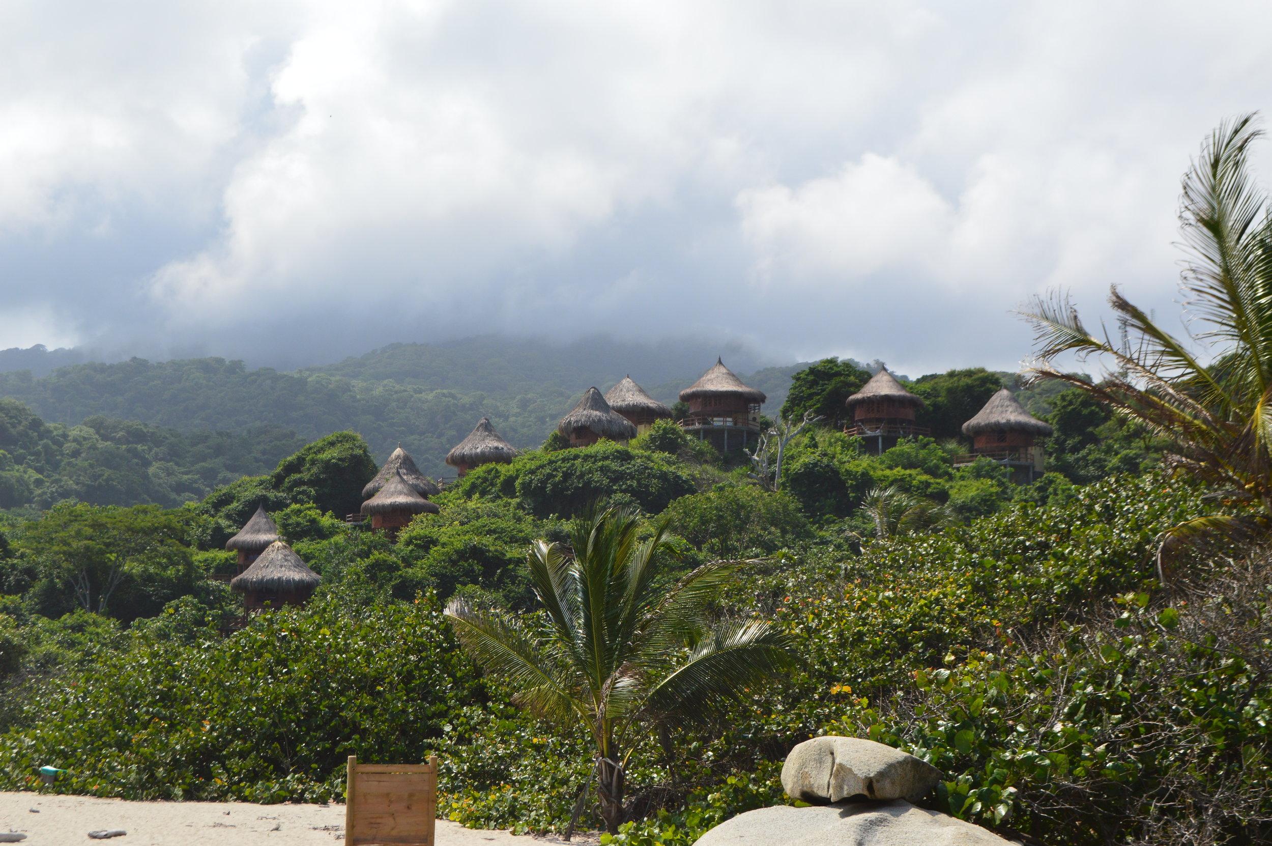 Fancy eco lodges in Tayrona Park
