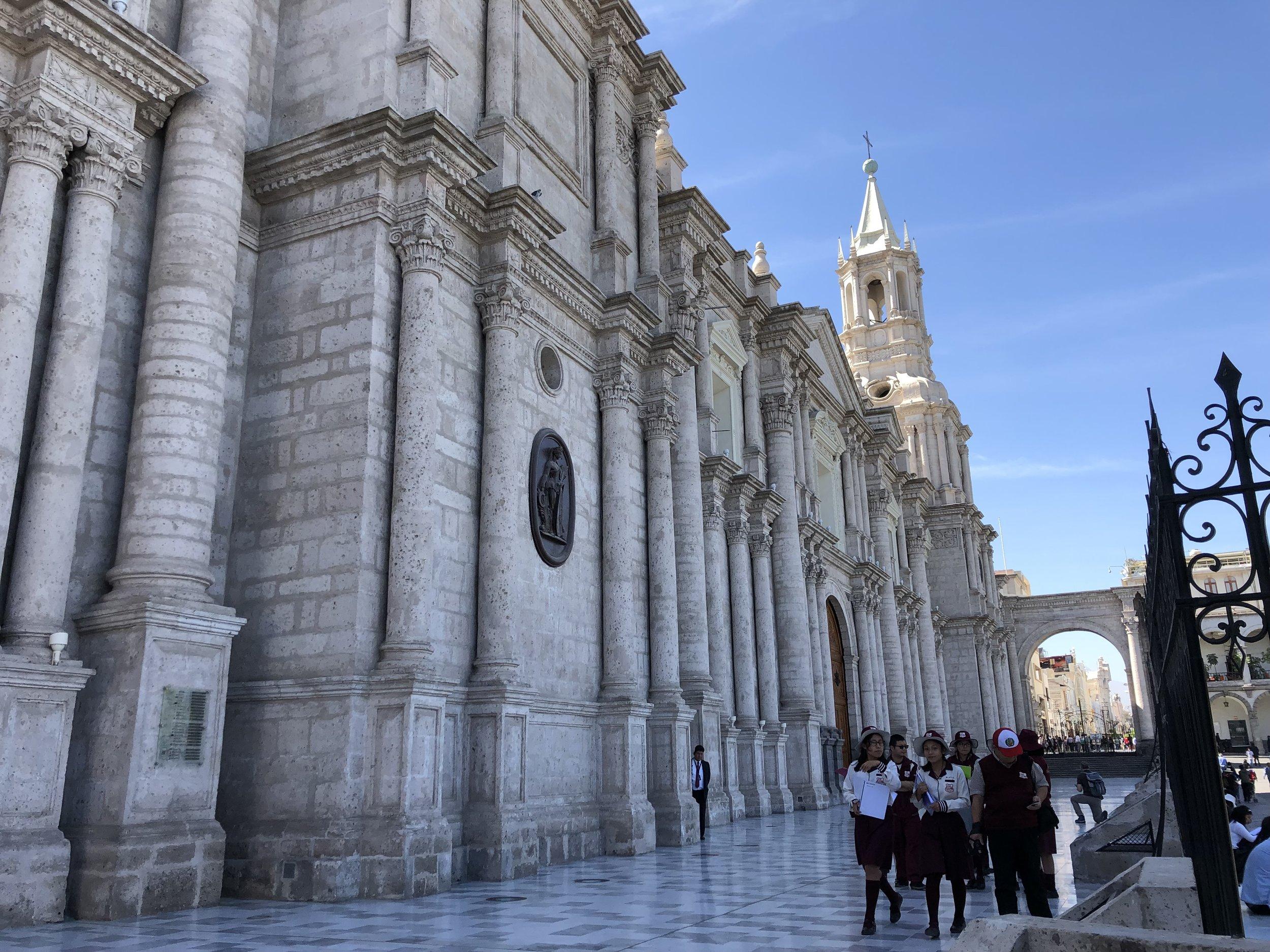 Plaza de Armas - Basilica Cathedral of Arequipa