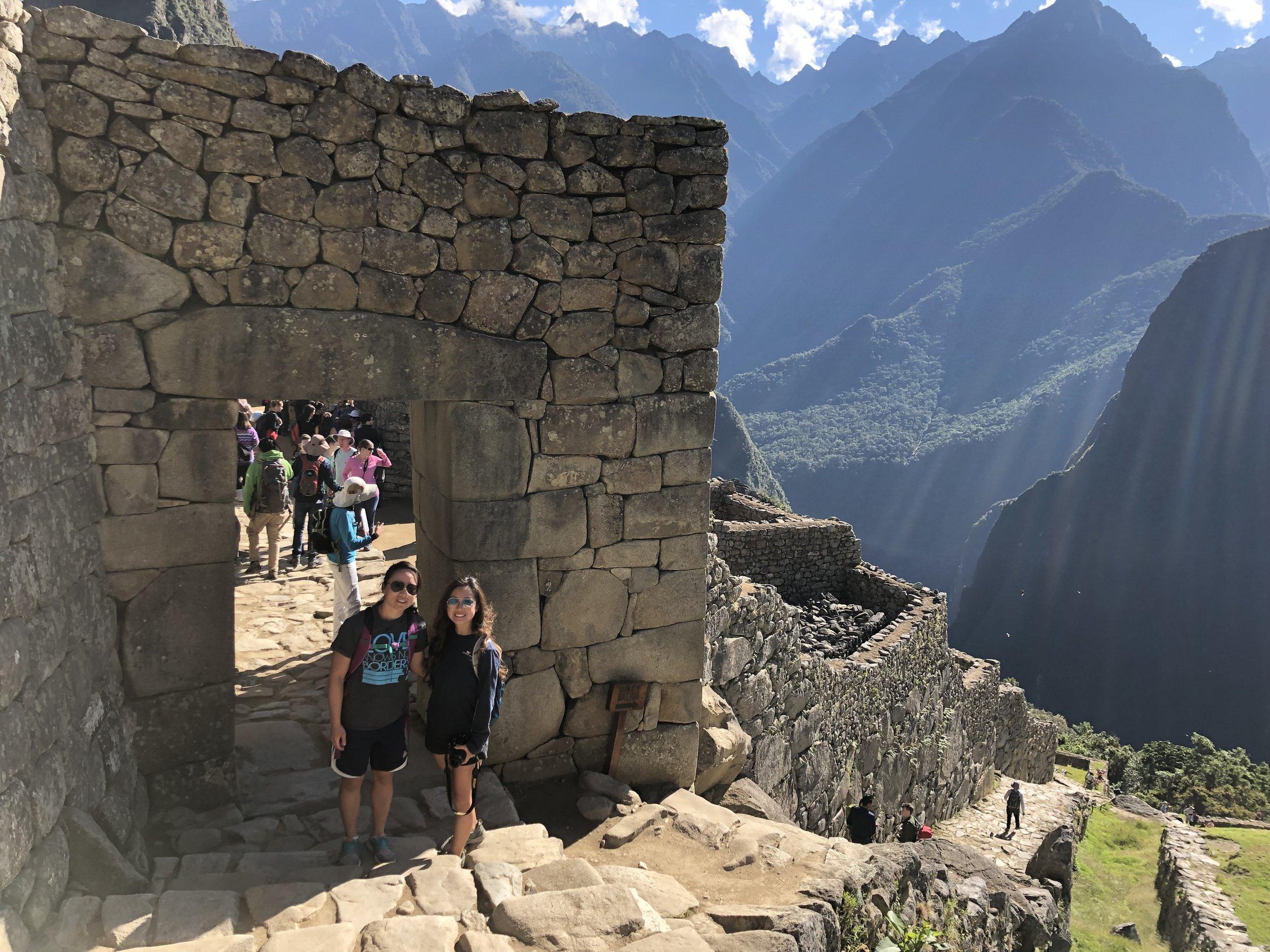 Entrance into Machu Picchu city