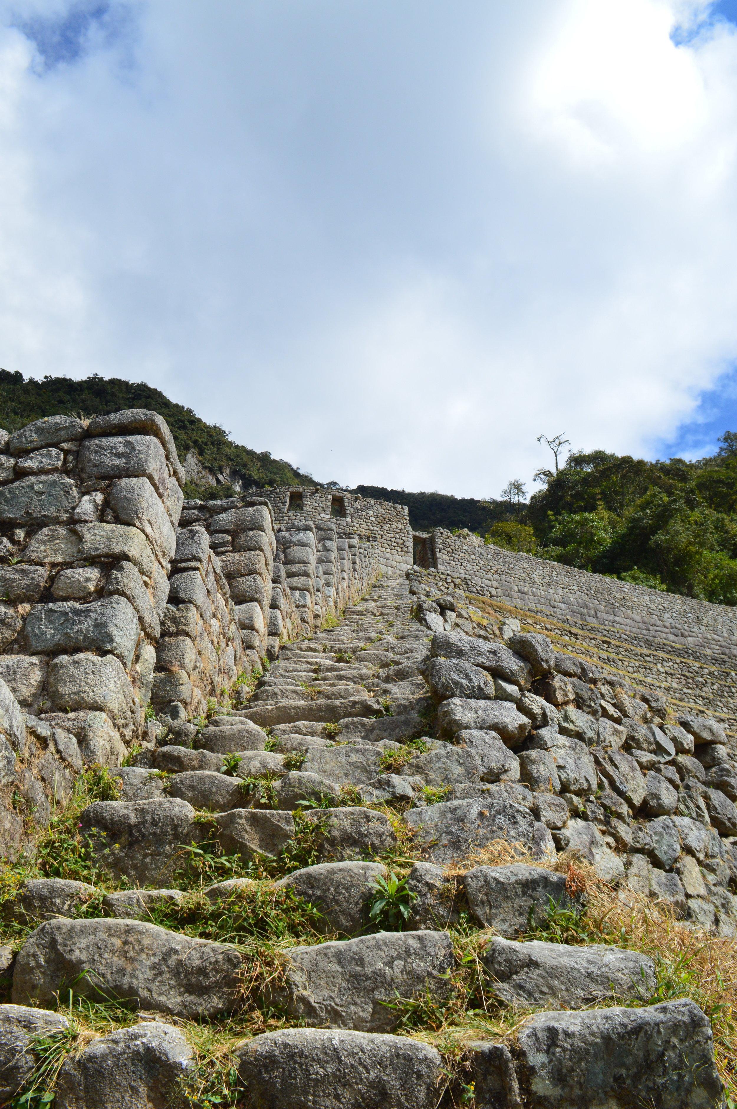 Stairs up to Wiñay Wayna