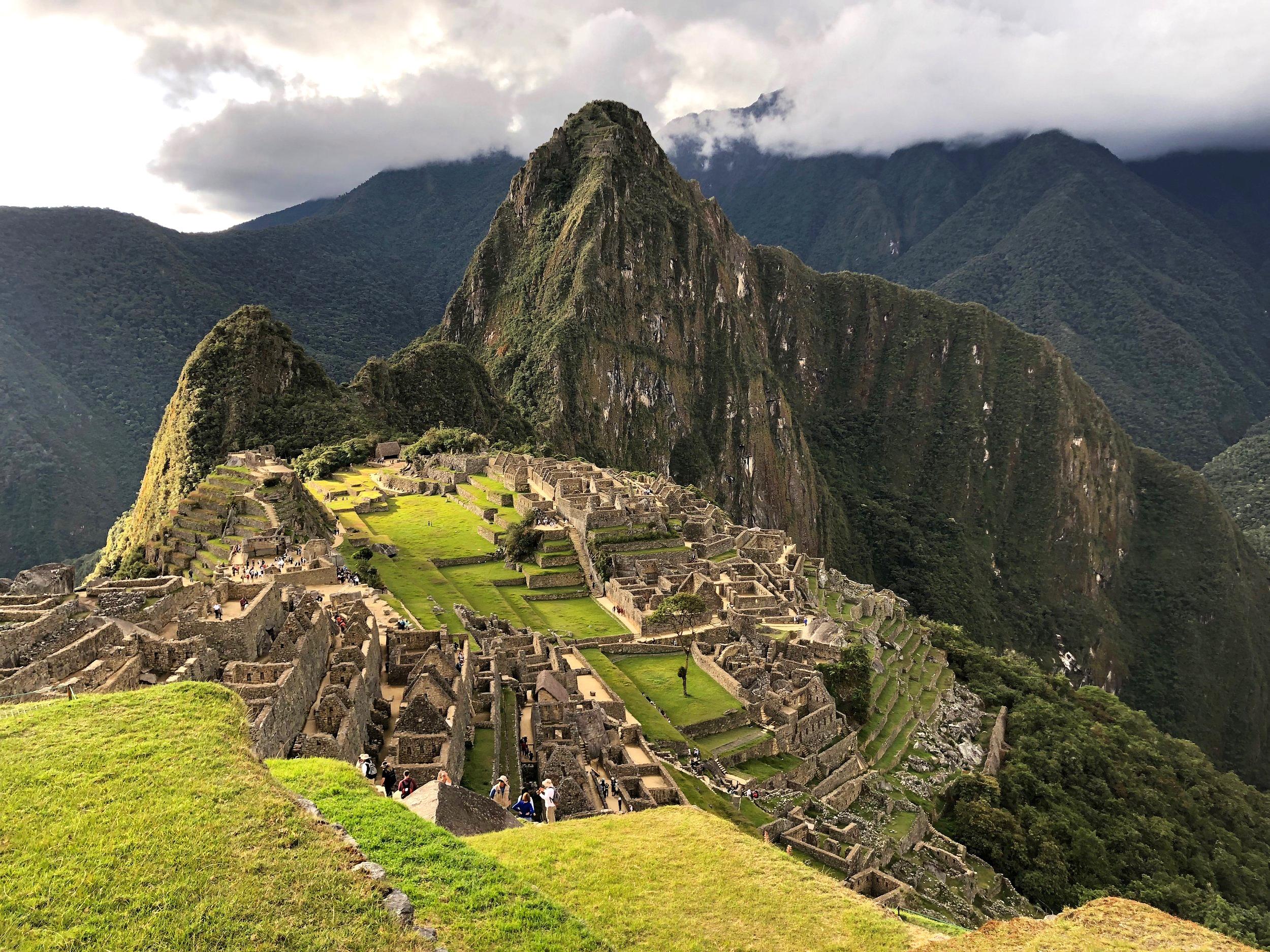 Golden hour at Machu Picchu