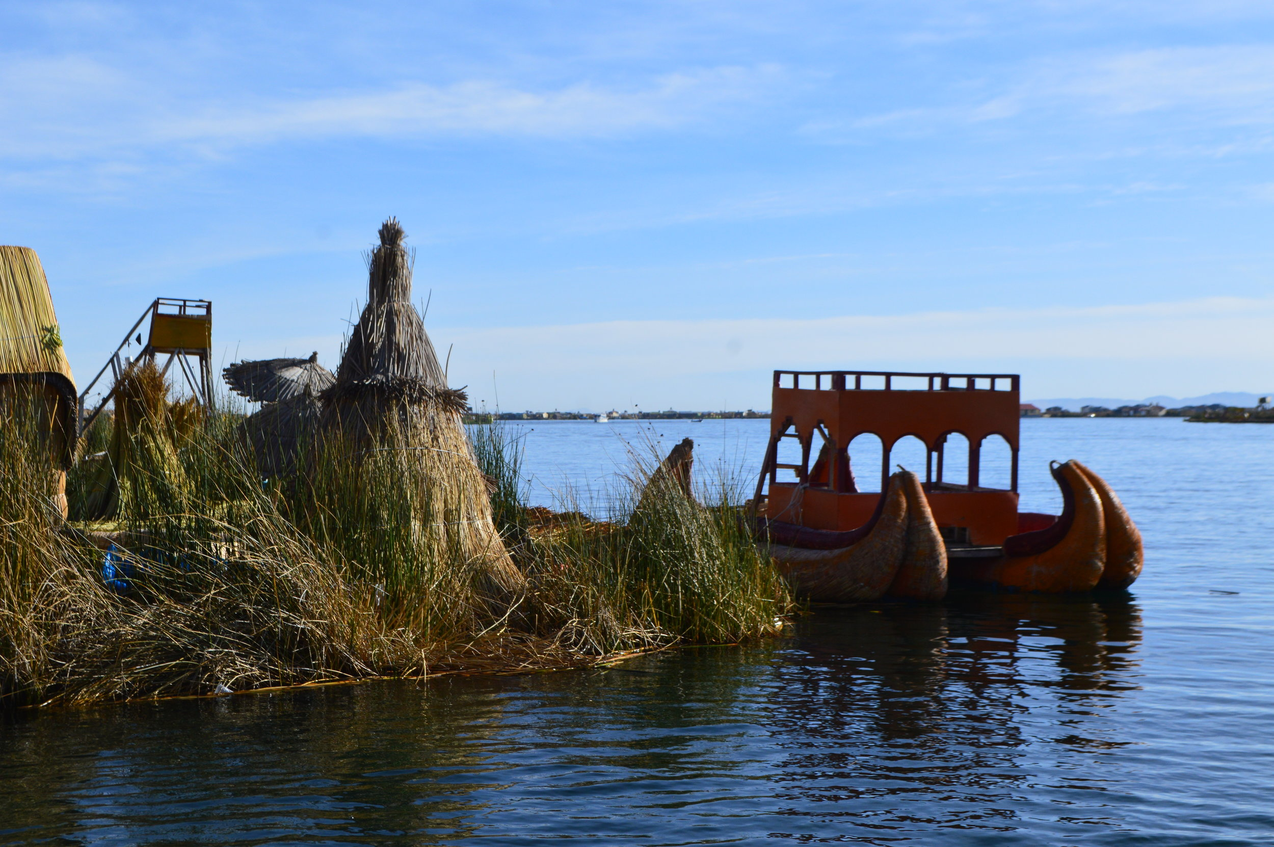 Lake Titicaca floating islands of Uros