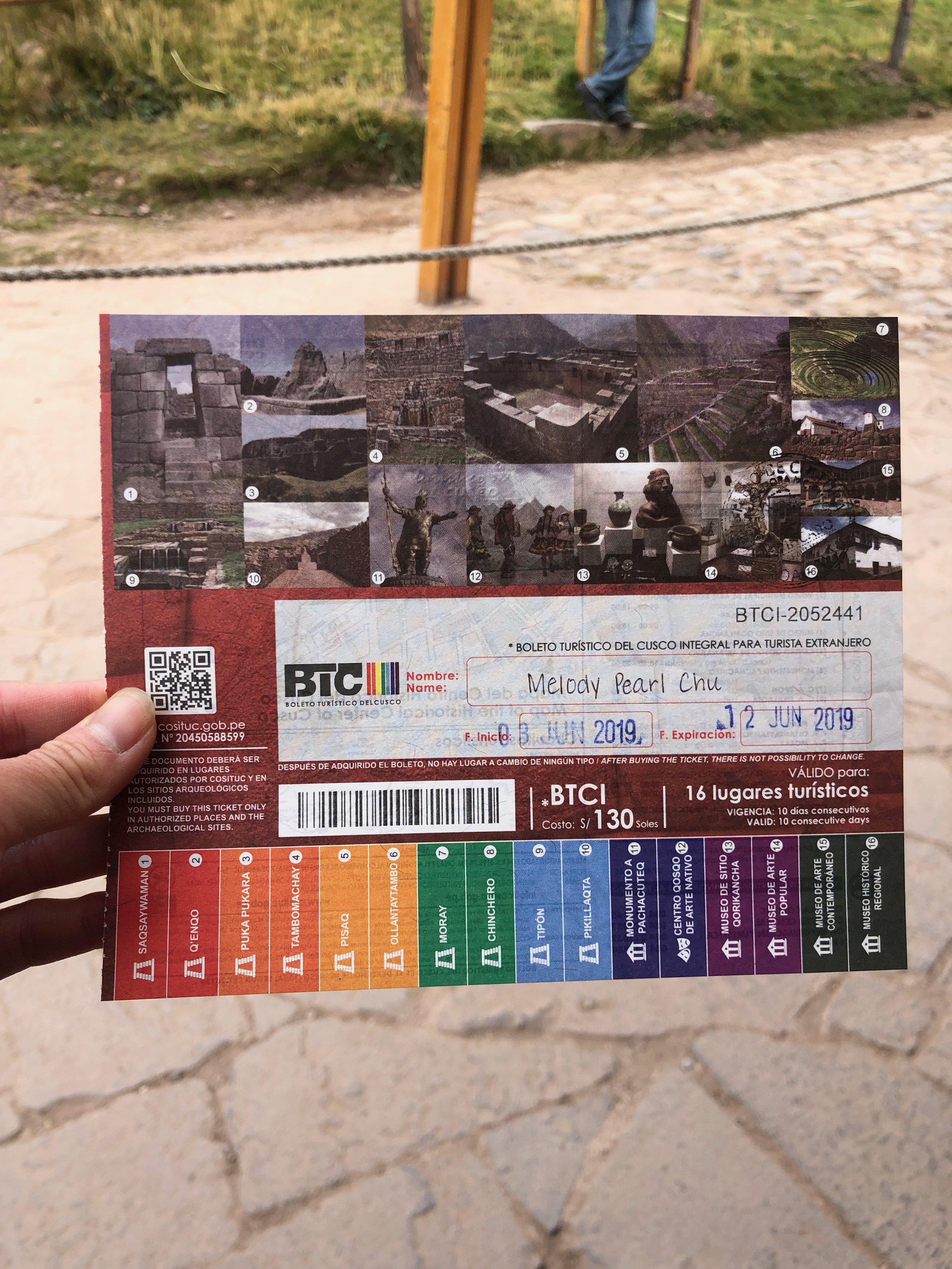 Boleto Turístico del Cusco (Tourist Ticket)