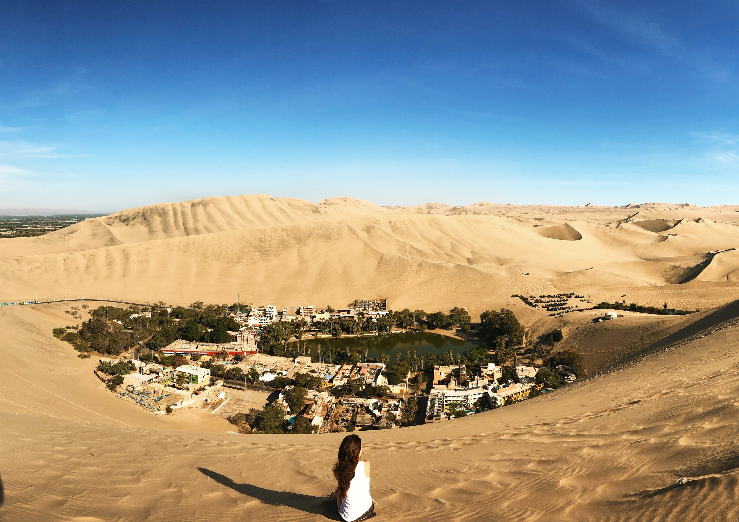 View of Huacachina from above
