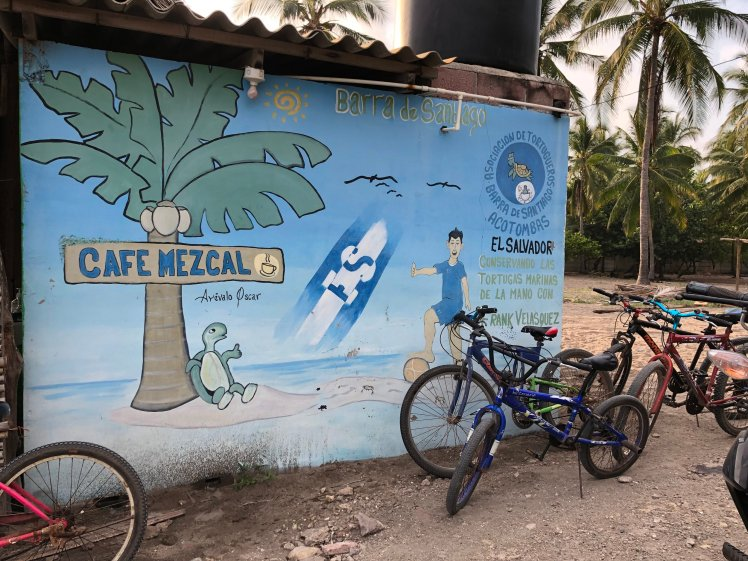 Cafe Mezcal - restaurant and meeting point for a tour of the turtle hatchery