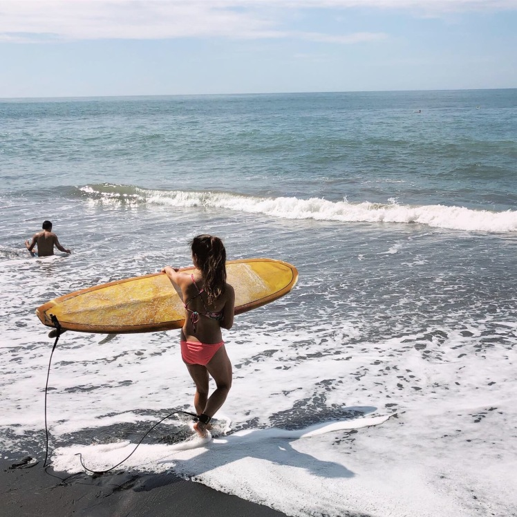 Rented a surfboard from Hotel Sunzal Reef for the day